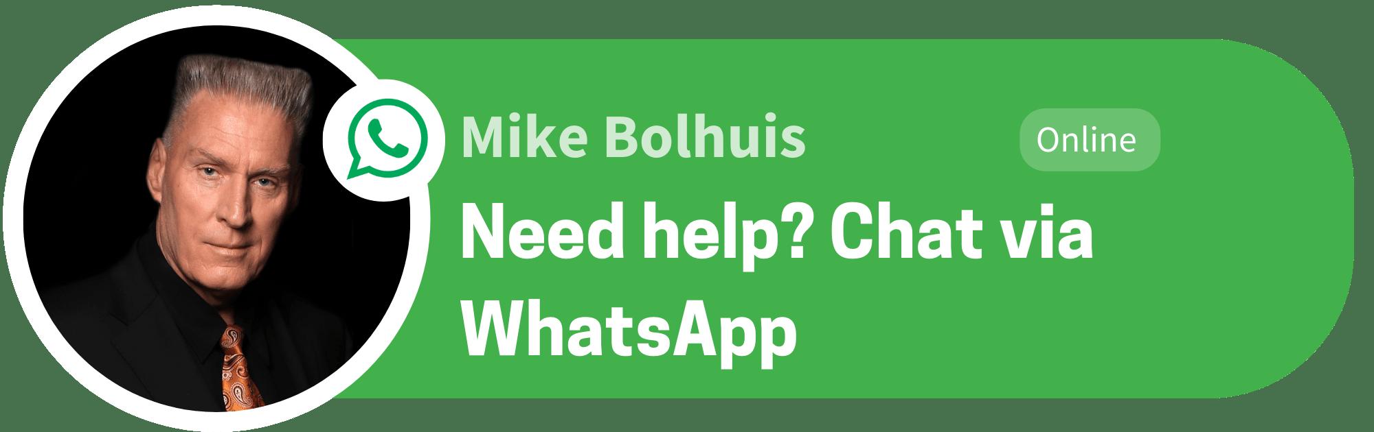 Mike Bolhuis WhatsApp Chat English